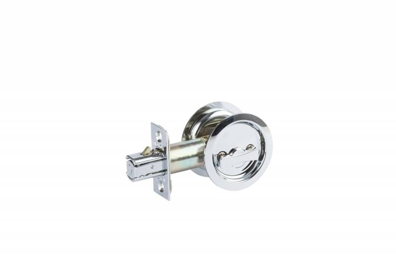 Cavity door lock chrome