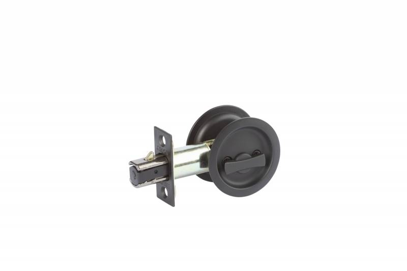 Matte black cavity door lock